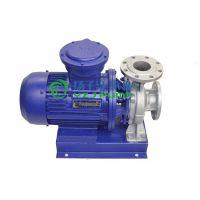 防爆管道泵:ISWH型卧式单级不锈钢管道离心泵,耐腐蚀化工泵