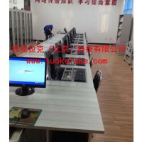 托克拉克供应多媒体教室桌椅 学校机房电脑桌 嵌入式电脑桌