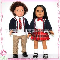 Farvision Girl新款搪胶娃娃 校园风学生装公仔玩具