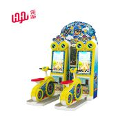 乐游新款小黄鸡赛车游戏机儿童乐园室内投币扭蛋机脚踏车电玩设备