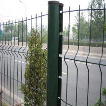 折弯铁丝网 公路护栏网 绿色铁丝网现货