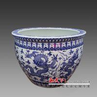 景德镇陶瓷大鱼缸 种树养花陶瓷大缸