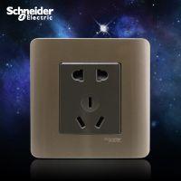 施耐德轻点系列 五孔墙壁电源插座 二三极墙壁插座(格调棕)