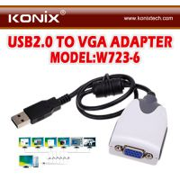 供应USB转DVI/VGA外接显卡 带音频功能
