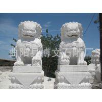 曲阳博文石雕 传统工艺 石雕石狮 汉白玉草白玉大理石石狮子