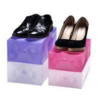 合美之家 加厚款抽屉式透明鞋盒 /鞋子收纳  收纳鞋盒批发 鞋盒粉