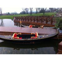 威尼斯贡多拉小艇 纯手工木质打造欧式游玩贡多拉船