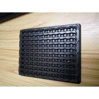 凯瑞康厂家供应三级管黑色吸塑托盘 0405贴片防静电吸塑盘