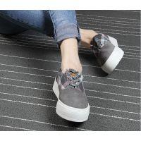 厂家供应女增高厚底反绒鞋批发款OSPOP焦作天狼