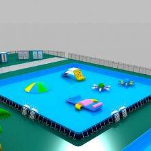 心悦聚醚乙烯支架游泳池价格/河北户外大型水上乐园配套支架水池定做