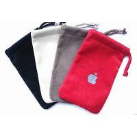 供应郑州绒布袋苹果手机袋定做束口手机袋批发