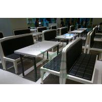 运达来餐厅家具批发 小餐厅大理石餐桌 甜品店大理石桌 款式简洁