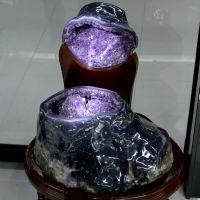 天然巴西紫晶洞 紫水晶聚宝盆 招财聚财辟邪消磁摆件 53公斤