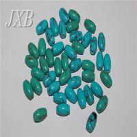 合成绿松石藏式桶珠鼓珠DIY手链饰品散珠佛珠配件批发