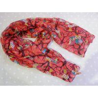 韩国韩版宝宝女童女孩儿童可爱猫头鹰围巾丝巾