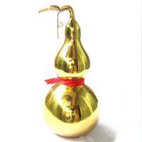厂家直销 纯铜葫芦 黄铜光身有叶葫芦 镇宅化煞祛增加夫妻感情
