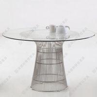 现代时尚多位咖啡桌 中高档经典圆形玻璃钢咖啡桌 玻璃咖啡桌子 厂家热卖