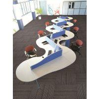 厂家批发青岛方块地毯 办公室 会议室 写字楼 商业大厦 大于雅加达系列丙纶提花毯面沥青底方块地毯