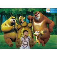 呼和浩特儿童房装修3D画 卧室3D画 动物乐园3D画
