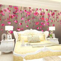 3d田园花卉客厅电视背景墙 厂家直销无缝墙布 定制沙发墙卧室餐厅墙纸壁纸 淘宝一件代发