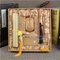 竹质工艺品厂家直销高端竹木礼品套装竹报平安商务会议礼品送客户