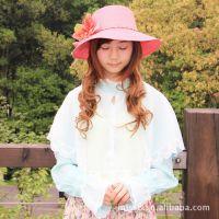 新品立领雪纺蕾丝防晒披肩 夏季女式长袖开车骑车罩衫小外套批发