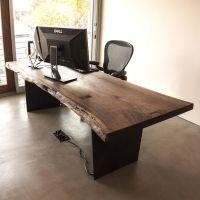 铁画专业定制LOFT仿古不规则实木餐桌茶桌美式铁艺洽谈桌办公桌大会议桌工作台