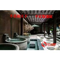 泡澡缸生产厂家日本极乐汤泡澡大缸厂家上海极乐汤泡温泉陶瓷大缸