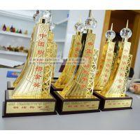 中国钢结构金奖奖杯,广州钢结构奖杯批发厂家,现货奖杯供应商,建筑工程质量奖杯,安装公司奖杯