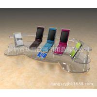 订做 亚克力手机展示架 各类电子产品迷你型有机玻璃展架