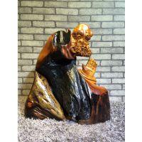 老挝花梨创意达摩雕件桌摆件 红木工艺品 收藏艺术品 厂家直销