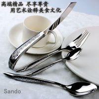 供应欧式刀叉勺三件套装西餐具牛排刀叉两件套订制西餐刀叉加工