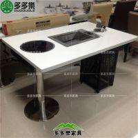 韩式烧烤桌 无烟烧烤桌 自助烧烤桌椅 烧烤店桌椅 烧烤家具