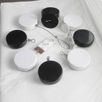 圆形防盗拉线盒 小件商品展示防盗线盒 迷你型自动伸缩拉线盒