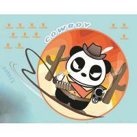 -广州花都金益汇烫画 供应卡通熊猫服装热转印烫画 高品质