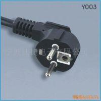 欧洲标准三芯插头+VDE认证电源线