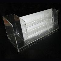 批发亚克力透明方格形展位 柜台口红架 化妆品彩妆专用展示架
