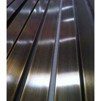 SUS304不锈钢拉丝管 拉丝不锈钢钛金管 厂家直销
