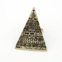R003 欧美时夸张爱情魔力三角形个性开口戒指指环