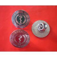 深圳锌合金压铸徽章制作冲压上色定制珐琅纯铜徽章
