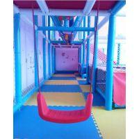供应哈皮 淘气堡室内秋千 儿童乐园秋千 绳索塑料 绳索探险 PVC包管木质海绵EPE