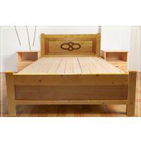千珏家具特价全松木 单人床 双人床实木床 1米1.2米1.5米 圆兴家具 可定做