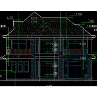 现代简洁带车库及景观平台三层新农村住宅设计图12.5x11米