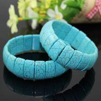 【放血价】新款蓝爆花松石手链手排 绿松石手串 欧美流行饰品