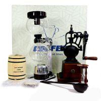 LH411-3T 手摇咖啡磨豆机 家用研磨机 原木手摇磨豆机礼盒套装