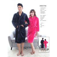 厂家直销纯棉吸水舒适珊瑚绒浴袍