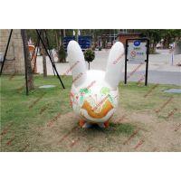 玻璃钢彩绘兔子动物雕塑 商场卡通造型装饰雕塑