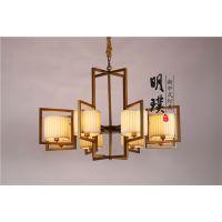 客厅铁艺中式吊灯 仿古中式吊灯 明璞中式吊灯代理加盟