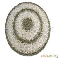 22914天然环保家居用品批发 大号圆形玉米皮手工编织客厅草编地毯