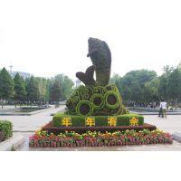 立体花坛、植物绿雕、仿真绢花造型、植物墙、五色草造型、人物造型